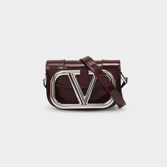 Valentino Little Shoulder Bag Supervee In Red Patent Leather