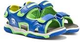 Diesel Blue Velcro Sandals