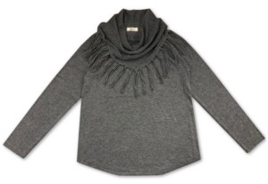 Style&Co. Style & Co Fringe Cowl-Neck Sweater, Created for Macy's
