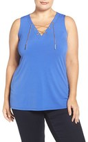 MICHAEL Michael Kors Plus Size Women's Chain Lace-Up Sleeveless Top