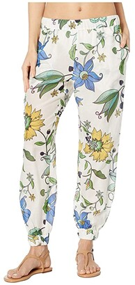Tory Burch Swimwear Printed Beach Pants Cover-Up (New Ivory Love Floral) Women's Swimwear