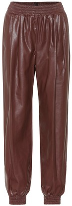 MSGM Faux leather trackpants