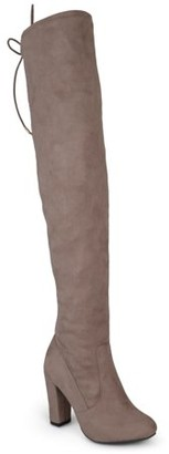 Brinley Co. Women's Over-the-knee High Heel Faux Suede Boots