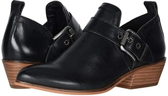 Frye Rubie Moto Slip-On (Black Vintage Pull Up Leather) Women's Boots