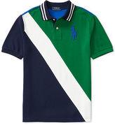 Ralph Lauren Banner-Striped Cotton Polo