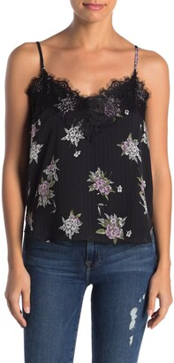 Heartloom Andra Floral Print Lace Trim Camisole