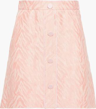 Sandro Zeby Cotton-blend Jacquard Mini Skirt