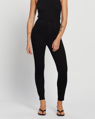Nobody Denim Women's Black High-Waisted - Siren Skinny Ankle Jeans - Size 24 at The Iconic