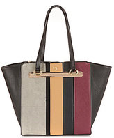 Kate Landry Stripe Patchwork Tote
