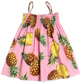 Dolce & Gabbana Pineapple Print Cotton Poplin Dress