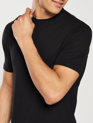 River Island Black Muscle Fit Crew Neck T-Shirt
