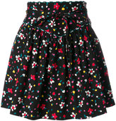 Marc Jacobs painted flower print skirt - women - Silk/Cotton/Spandex/Elastane - 6