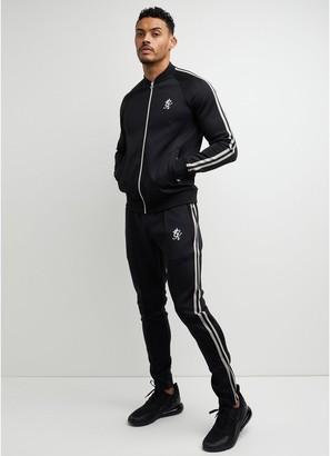Gym King Taped Poly Premium Tracksuit - Black/White