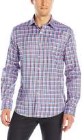 Bugatchi Men's Multi Tatersall Button Down Shirt