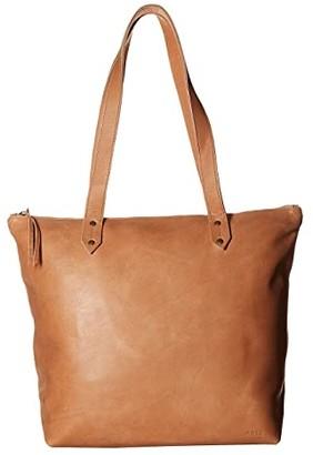 ABLE Chaltu Top Zip Tote (Sand) Tote Handbags
