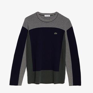 Lacoste Women's Colorblock Knit Crew Neck Sweater
