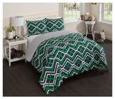 Vue Blue & Green Geo Peyton Reversible Comforter Set