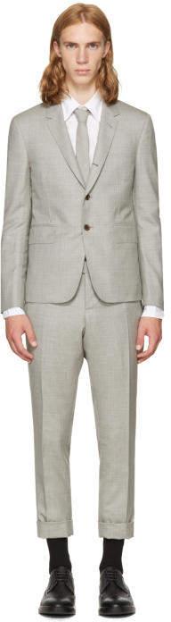 Thom Browne Grey Wool High Armhole Suit