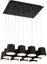 Eurofase Borto Collection 12-Light Black LED Chandelier