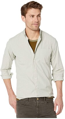 J.Crew Slim Stretch Secret Wash Shirt in Organic Cotton Classic Gingham (Vintage Navy) Men's Clothing