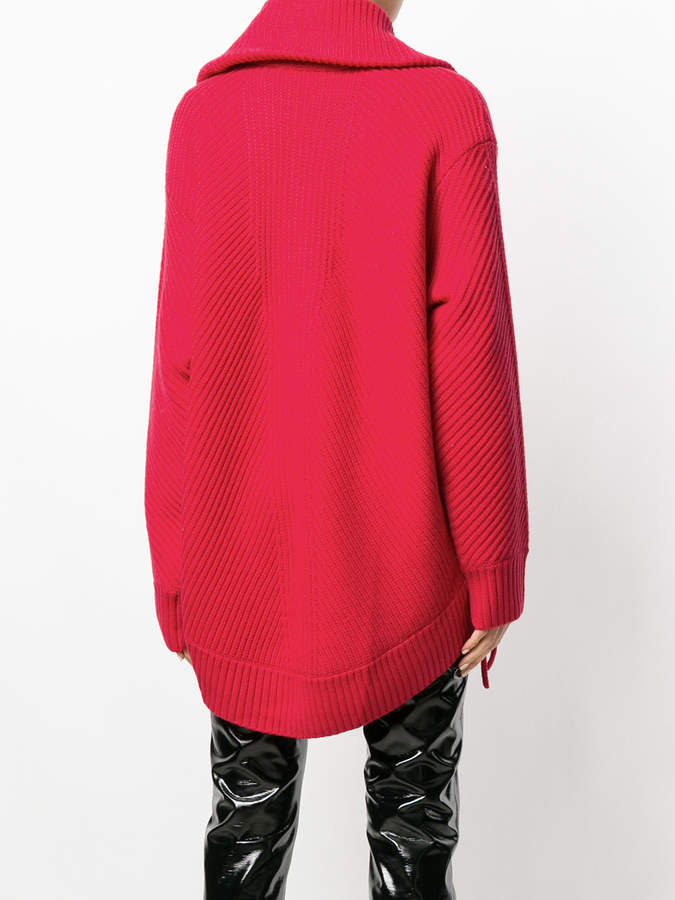 Barbara Bui lace-up detail ribbed knit sweater