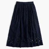 J.Crew Floral lace A-line skirt