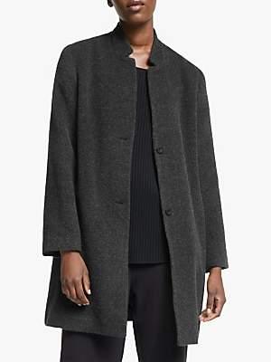 Eileen Fisher Notch Collar Coat, Dark Pearl