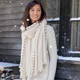 The White Company Cashmere Ultimate Pom-Pom Shawl