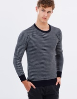 Scotch & Soda Jacquard Knitted Crewneck Pullover