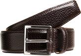 Crockett Jones Crockett & Jones Men's Grained Leather Belt-DARK BROWN