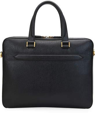 Salvatore Ferragamo Men's Textured Leather Briefcase