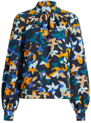 Stine Goya Ebby Abstract Floral Blouse