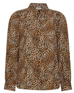 Dorothy Perkins Womens Dp Petite Multi Colour Leopard Print Shirt