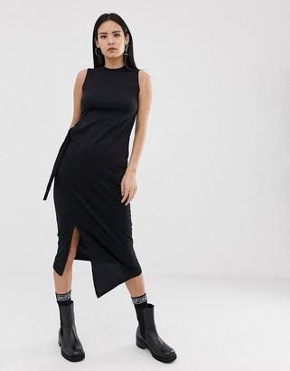 Cheap Monday Curle wrap dress-Black