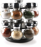 16-Jar Contempo Round Spice Rack Set