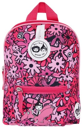 "Babymel Zip & Zoe Mini 10"" Kid' Backpack & afety Harne - Floral"