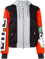 Moschino panelled hoodie