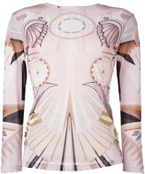 Givenchy 'Stargate' printed semi-sheer top