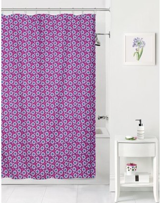 Mainstays Kids Purple Daisy Coordinating Fabric Shower Curtain