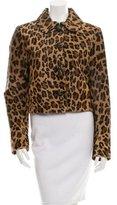 Prada Leopard Print Ponyhair Jacket
