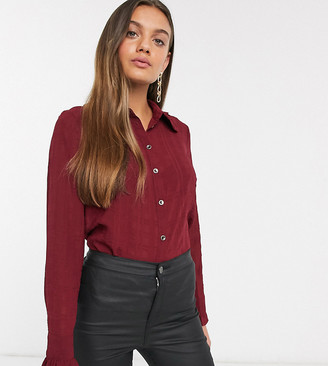 Y.A.S Petite frill detail shirt