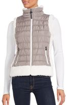 Calvin Klein Faux Fur-Trimmed Vest