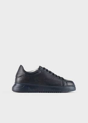 Emporio Armani Deerskin Sneakers With Oversized Sole