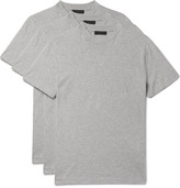 Prada Three-Pack Slim-Fit Cotton-Jersey T-Shirts