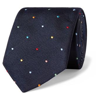 Paul Smith 8cm Polka-Dot Embroidered Silk-Twill Tie