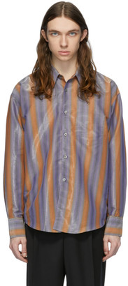 Our Legacy Blue and Orange Coco 70s Shirt