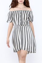Everly Grey Stripe Dress