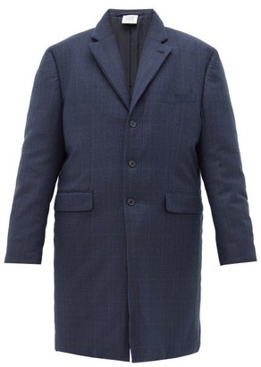 Vetements Padded Plaid Tailored Coat - Navy
