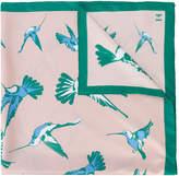 Carolina Herrera bird print scarf