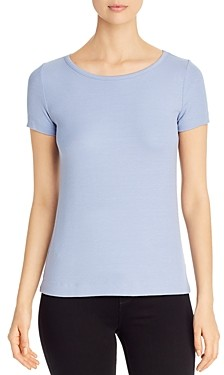 Three Dots Short-Sleeve Ribbed Tee